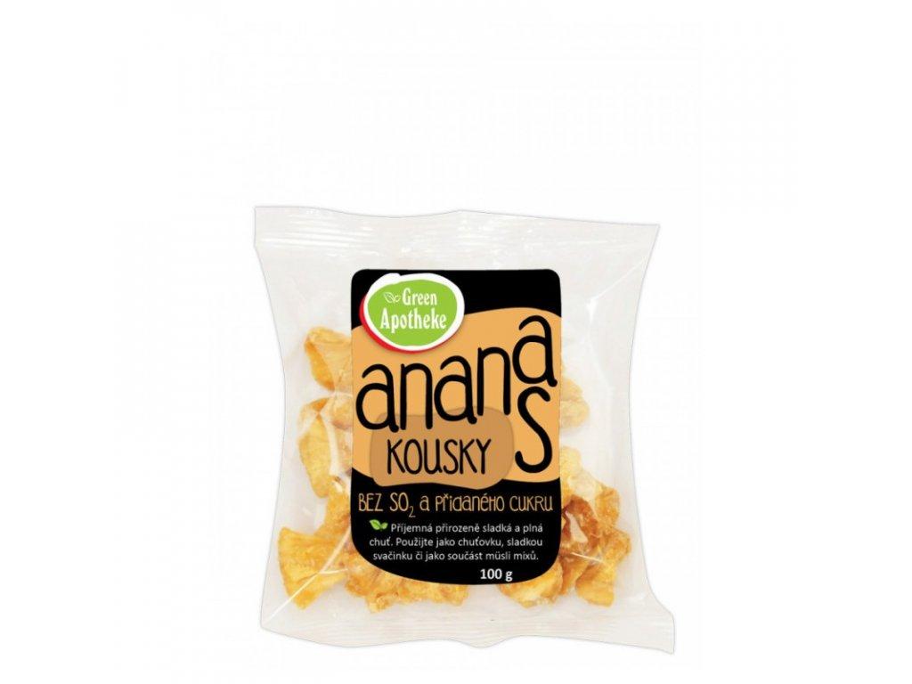 Green Apotheke Ananas kousky nesířené 100 g