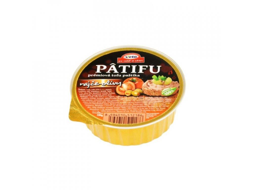 Patifu Paštika rajče a olivy 100 g
