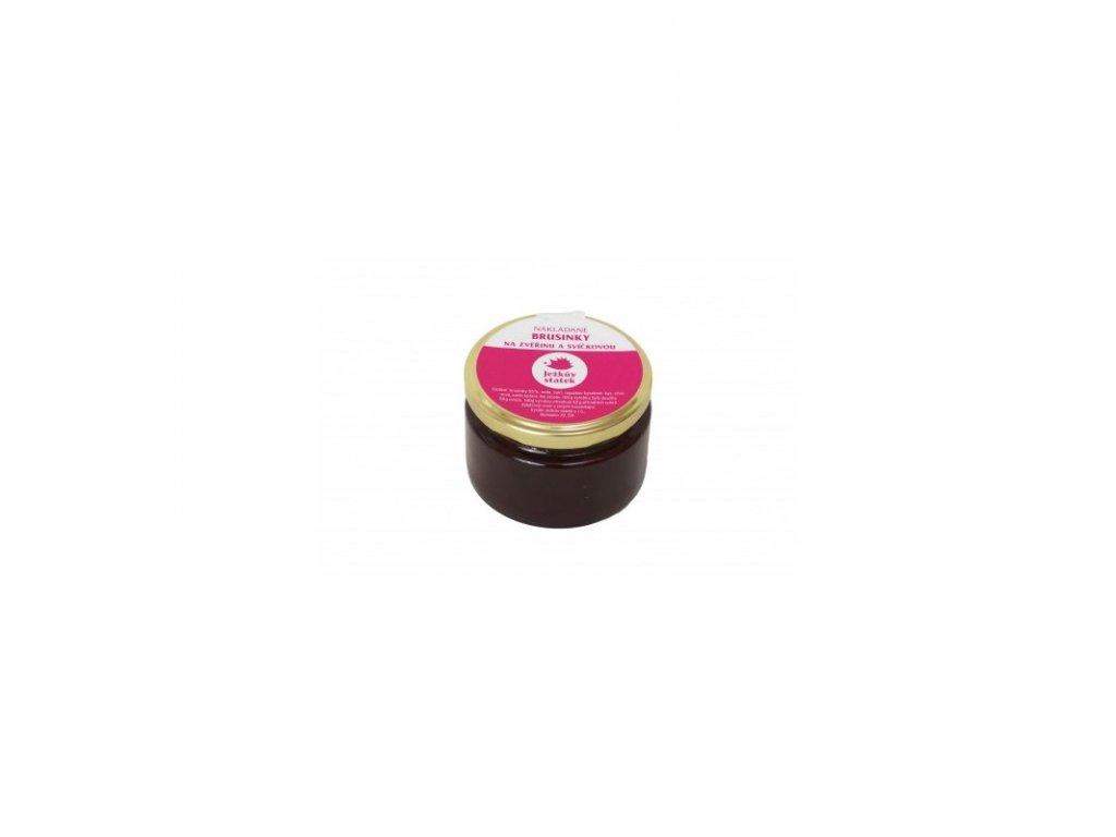 Ježkův Statek Výběrový džem nakládané brusinky 250 g