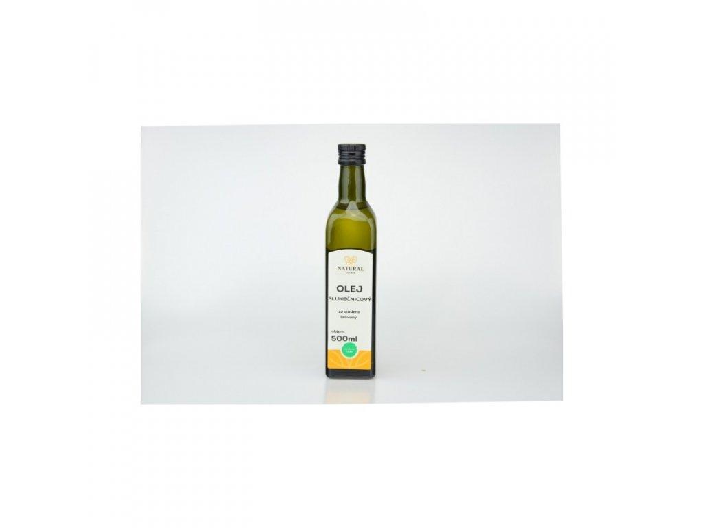 Natural Jihlava Olej slunečnicový za studena lisovaný 500 ml