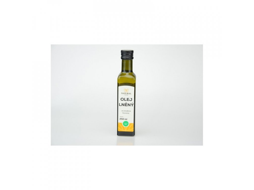 Natural Jihlava Olej lněný za studena lisovaný - Natural 250 ml