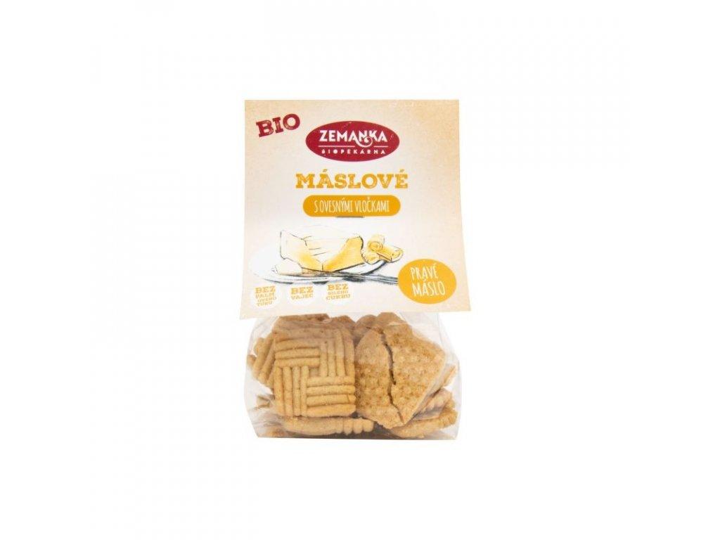 Bio Zemanka Sušenky máslové s ovesnými vločkami 100 g