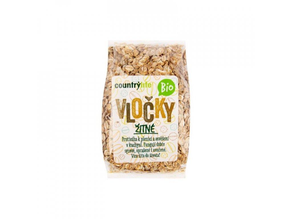 Country Life Vločky žitné Bio 250 g