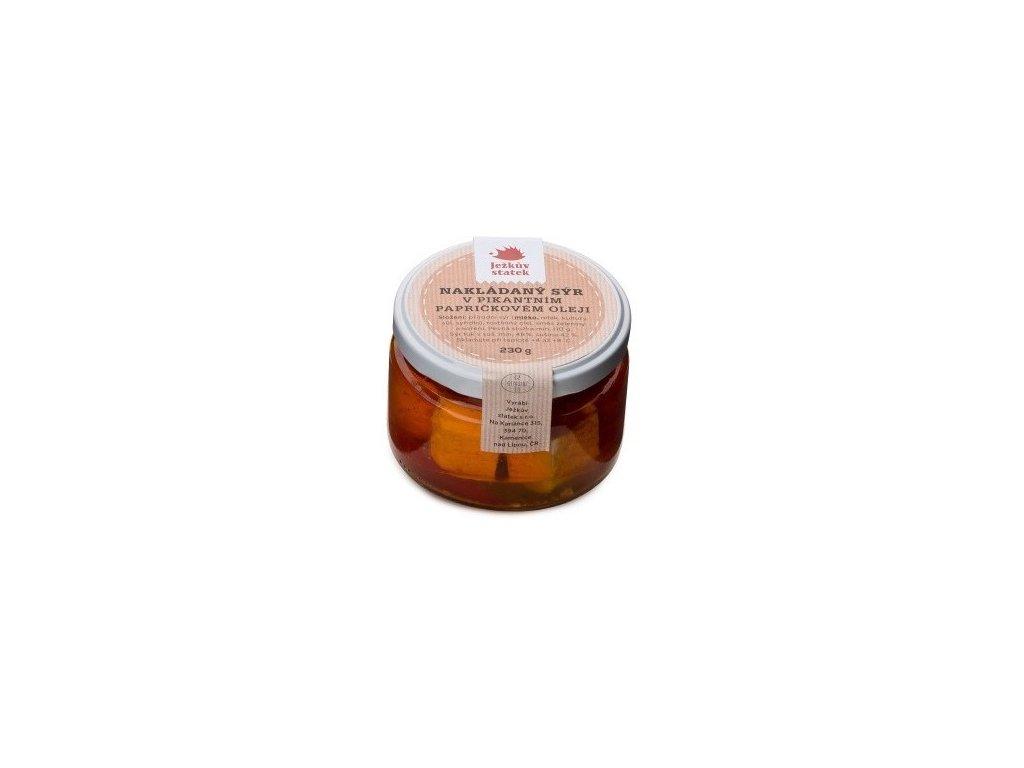 jezkuv statek nakladany syr v paprickovem oleji 230 g