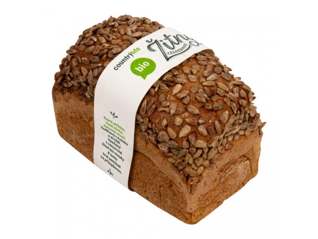 Chléb žitný celozrnný 500 g bio Country Life