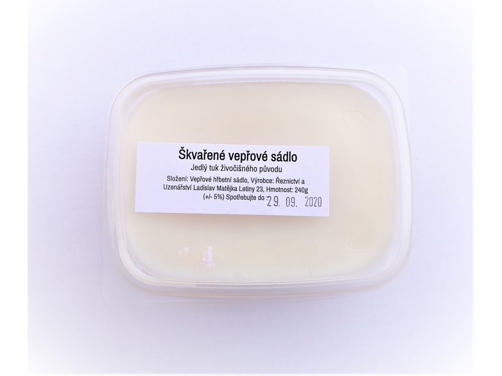 Sádlo ve vaničce 240 g