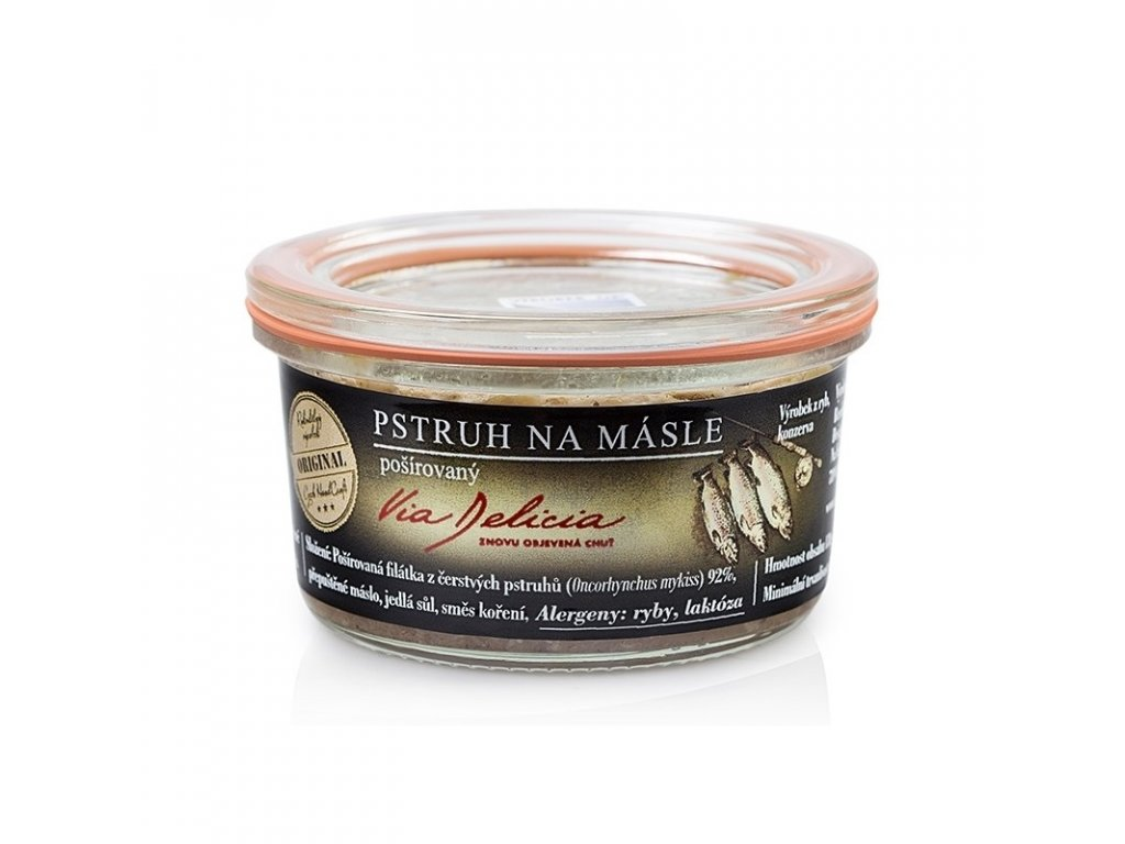 Via Delicia Pstruh na másle pošírovaný 130 g
