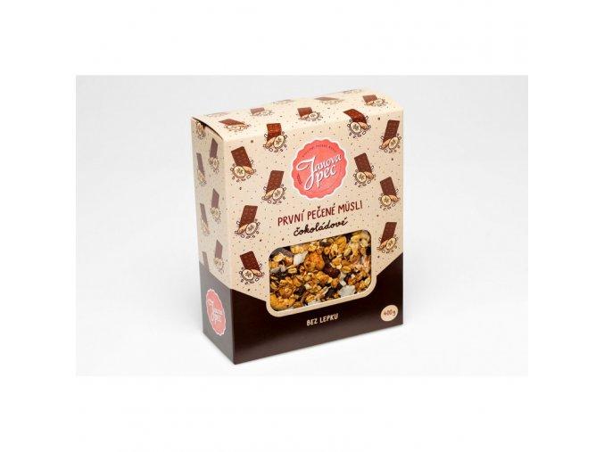 Janova Pec Pečené müsli čokoládové 400 g