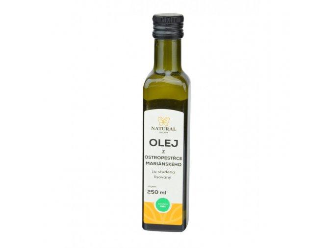 Natural Jihlava Olej z ostropestřce mariánského za studena lisovaný  250ml