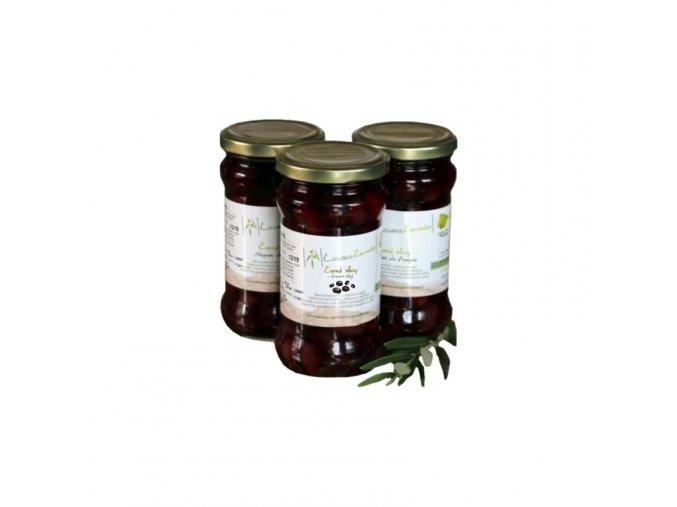 Lozano Červenka Černé olivy v extra panenském olivovém oleji 145 g