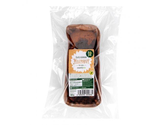 Sladký mramorový chlebíček bez lepku 250 g Nelepek