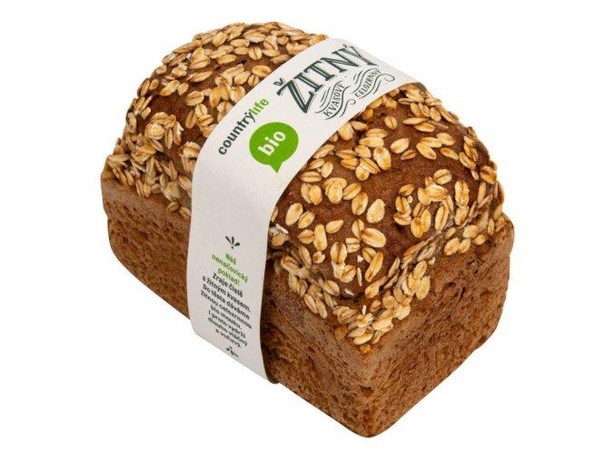 Chléb žitný kvasový celozrnný 500 g bio Country Life