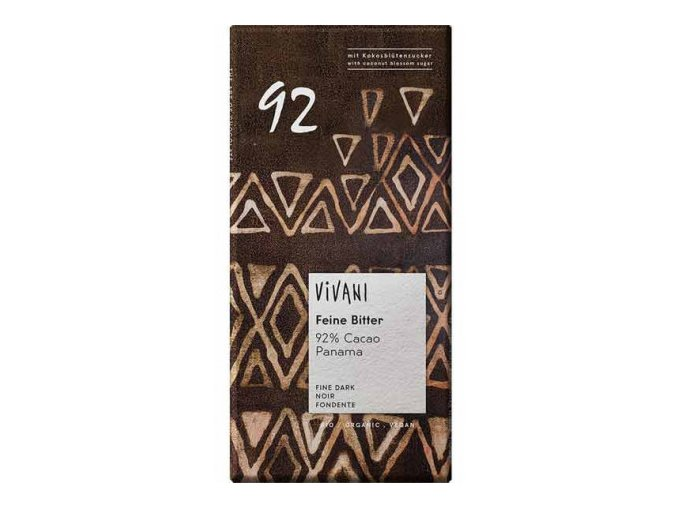 vivani bio horka cokolada 92 s kokosovym cukrem 80g (1)