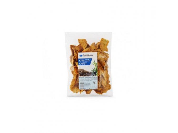 Damodara Chia chipsy s rozmarýnem 100 g