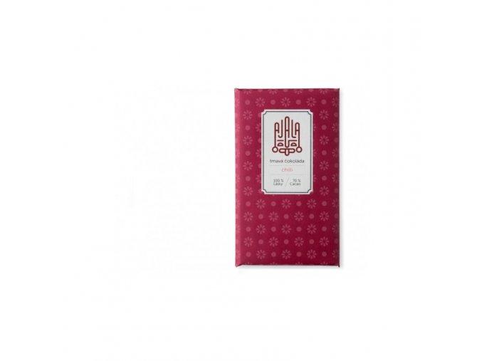 Ajala Chocolate Bio hořká čokoláda 70% s 0,5% chilli, výběrové boby 45 g