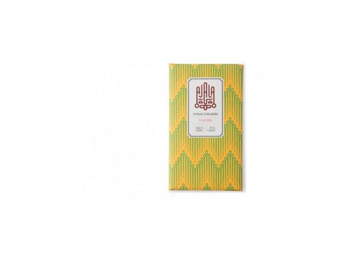 Ajala Chocolate Bio hořká čokoláda 70% s mandlemi, výběrové boby 45 g