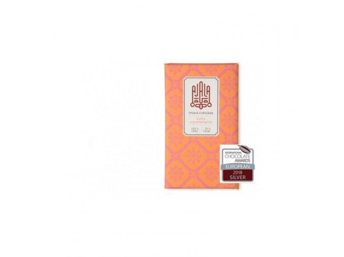 Ajala Chocolate Bio hořká čokoláda 70% květy a pomeranče, výběrové boby 45 g