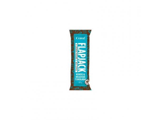 Cerea Ovesná tyčinka Flapjack kokos +  belgická čokoláda 60 g
