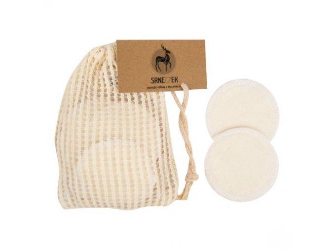 Srneczek Odličovací tampony pratelné 10 kusů z Bio bavlny a bambusu