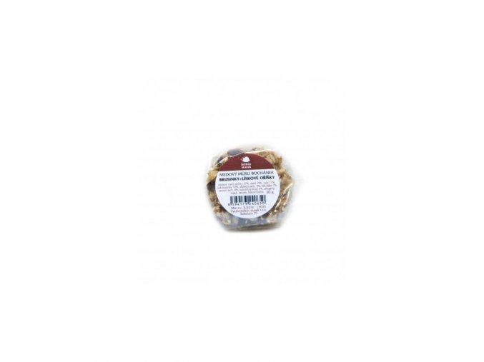 Ježkův statek Medový müsli bochánek brusinka + lískový oříšek 30 g