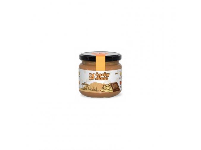 Lucky Alvin Arašídové máslo s mléčnou čokoládou 330 g