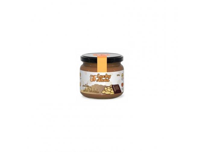 Lucky Alvin Arašídové máslo s hořkou čokoládou 330 g