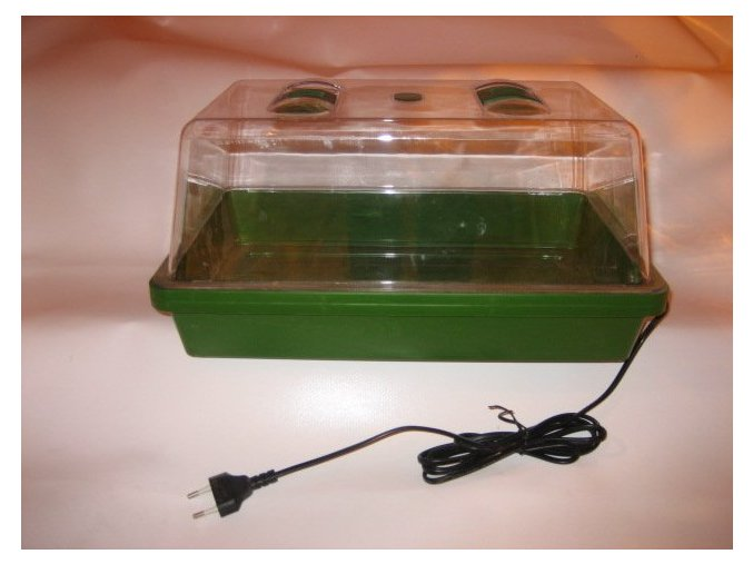 Vyhřívaný skleník 38x25x19cm, s ventil. klapkami