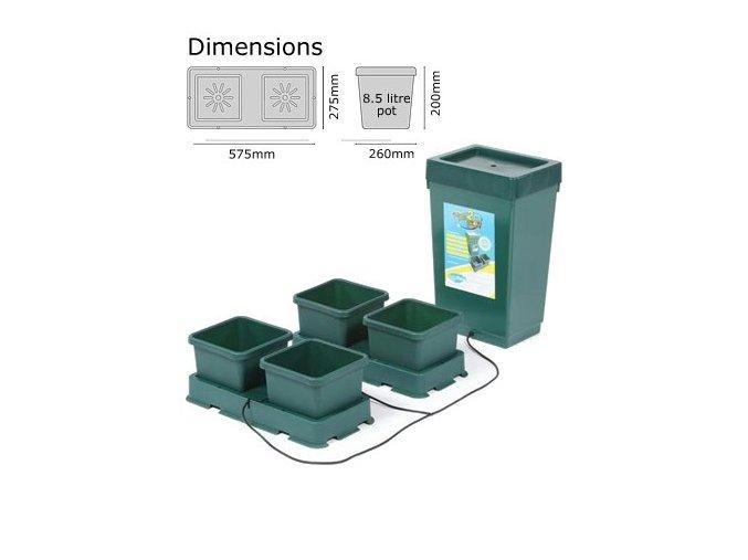 Autopot Easy2grow Kit s 4 květináči, včetně 47 l plastové nádrže