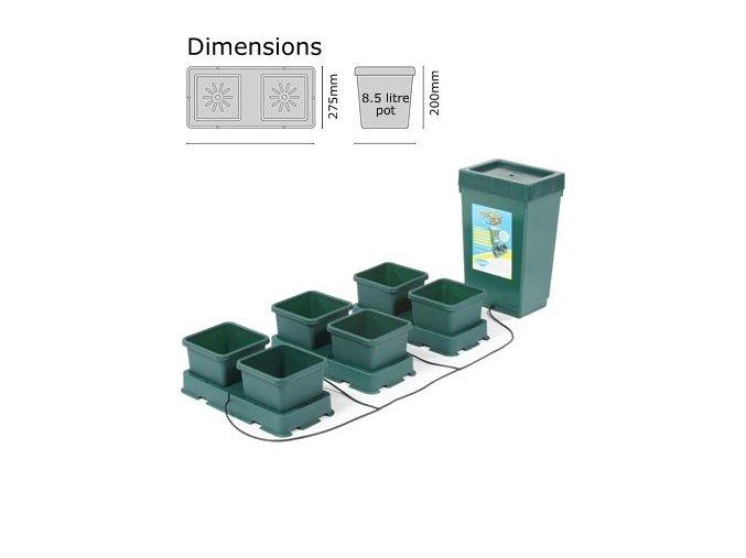 Autopot Easy2grow Kit se 6 květináči, včetně 47 l plastové nádrže