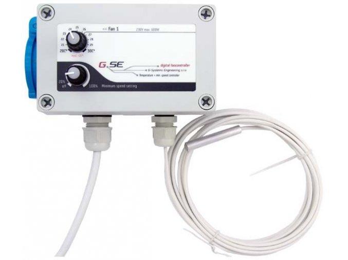GSE regulátor otáček s termostatem (2 zásuvky), 2x600W, 16A, 230V