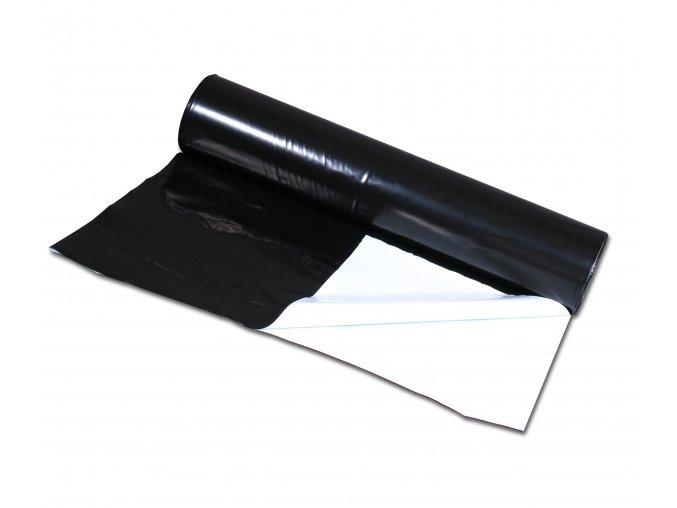 PE zahradnická černobílá fólie 3300x0,07mm, celá role cca 50kg