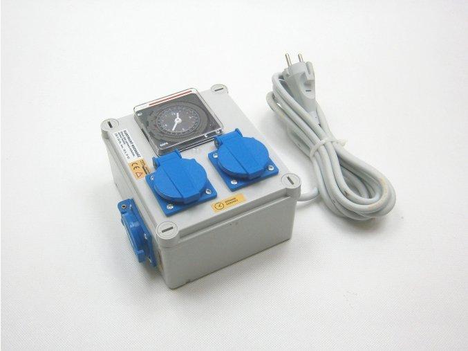 Malapa rozvaděč 2+1 (230V) ovládaná spínacími hodinami