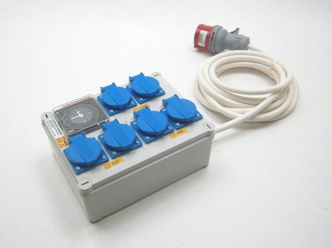 Malapa rozvaděč 4+2 (400V) ovládaná spínacími hodinami