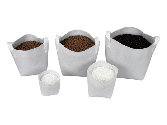 Tex Pot textilní květináč bílý 7l