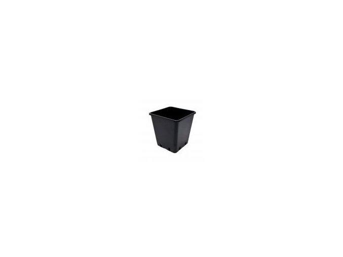 Teku čtyřhranný květináč 15x15x20cm, objem 4l, tvrdý plast