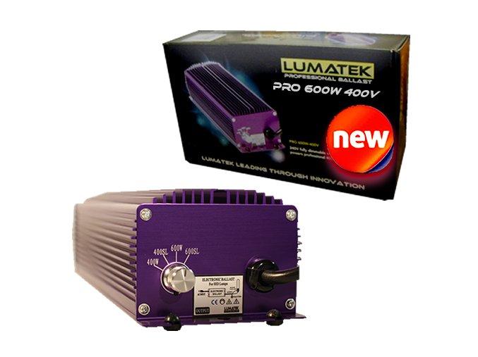 Elektronický předřadník Lumatek ULTIMATE PRO 600W,400V s regulací a včetně výbojky