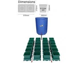 Autopot Easy2grow Kit se 40 květináči, včetně 400 l Flexitank
