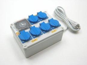 Malapa rozvaděč 4+2 (230V) ovládaná spínacími hodinami