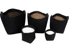 Tex Pot textilní květináč černý 15l