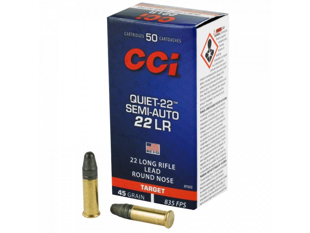 CCI, SemiAuto Quiet 22, .22LR, 45GR, LRN