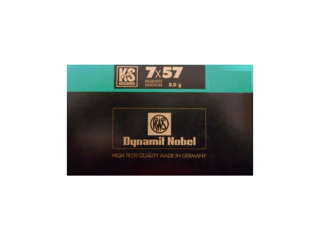 7x57 RWS dynamil nobel 123grs