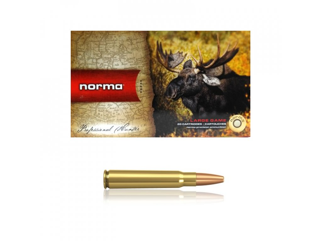 Náboj: Norma 8x57 JS Vulkan 12,7 g, 196gr