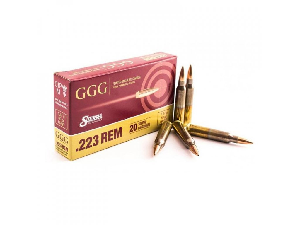 Náboj: GGG 223 REM - Sierra MatchKing 69grn HPBT