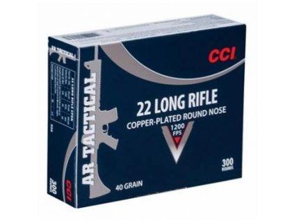 CCI, AR Tactical, .22LR, 40GR, Copper Plated RN, balení 300ks