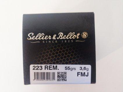 Náboje Sellier & Bellot .223 Rem FMJ 55 grs