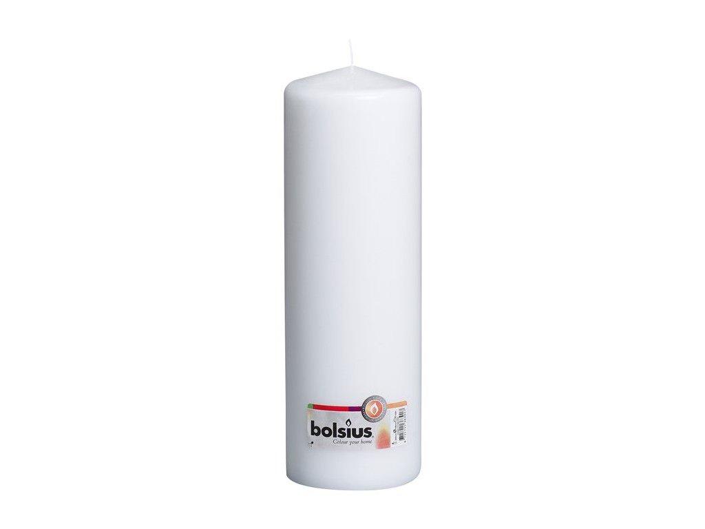 Bolsius Válec 80x250 bílá svíčka RAL
