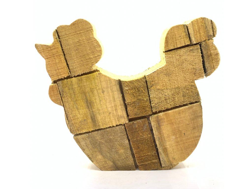Dřevěná slepice 90kč, 10ks