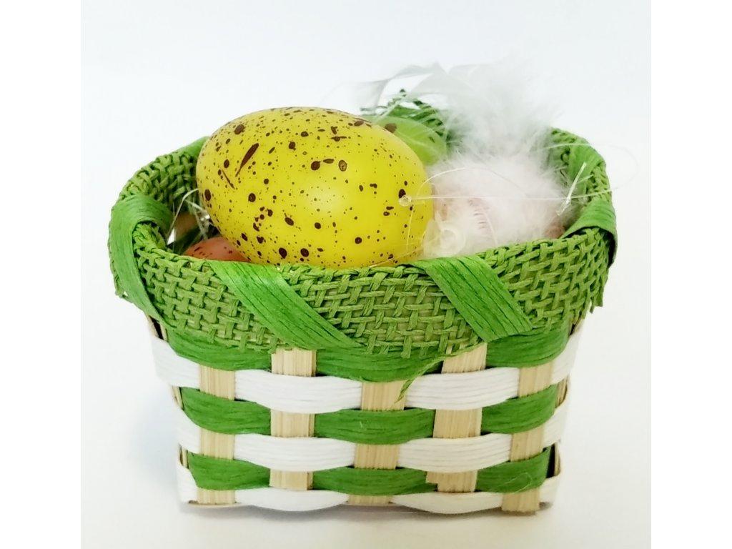 Košík s vajíčky zelená 39kč, 32ks
