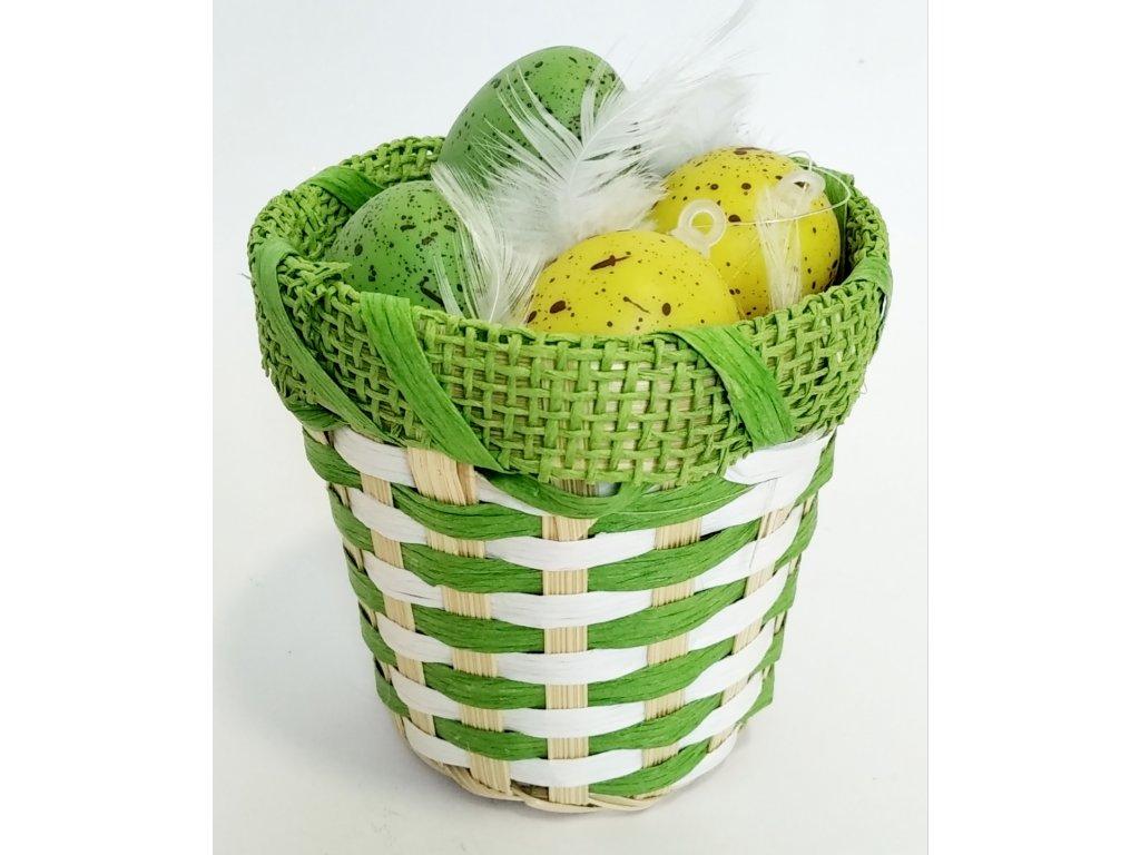 ošatka s vajíčkama zelená 69 Kč, 34ks