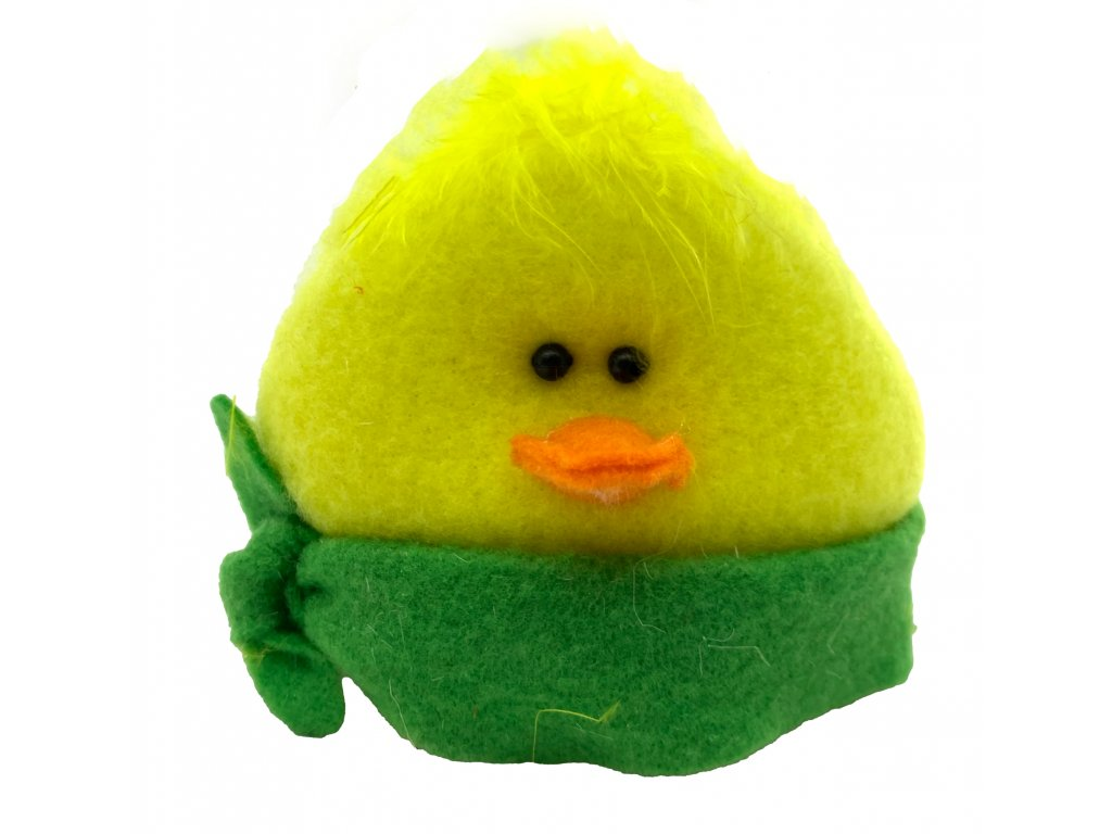 plyš kuře zelený 39kč, 7ks